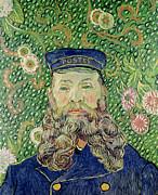 Portrait Of The Postman Joseph Roulin Print by Vincent Van Gogh
