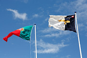 Regionalism Prints - Portugal and Azores flags Print by Gaspar Avila
