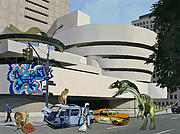Sci-fi Painting Framed Prints - Post-Nuclear Guggenheim Visit Framed Print by Scott Listfield