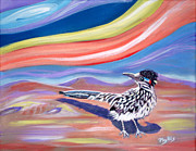 Roadrunner Paintings - Posy The Roadrunner by Phyllis Kaltenbach