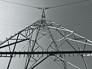 Electric Pylon Framed Prints - Power Tower Framed Print by Wim Lanclus