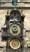 Orloj Posters - Prague Astronomical Clock Poster by Gregory Dyer