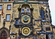 Town Square Prints - Prague - Astronomical Clock Print by Jon Berghoff