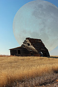 Farm House Mixed Media Posters - Prairie Moon Poster by Frank  Vargo