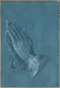 Christian Sacred Digital Art Metal Prints - Praying Hands Metal Print by Albrecht Durer