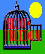 Cards Mixed Media Posters - Precious Freedom Poster by Patrick J Murphy