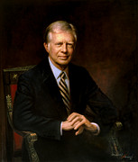 Democrat Paintings - President Jimmy Carter by War Is Hell Store
