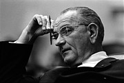 Featured Framed Prints - President Lyndon Johnson Framed Print by War Is Hell Store
