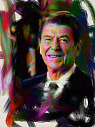 Ronald Reagan Prints - President Ronald Reagan Print by Official White House Photograph