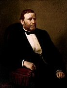 Us Presidents Framed Prints - President Ulysses Grant Framed Print by War Is Hell Store