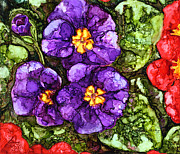 Primroses Paintings - Primroses II by Vicki Barry