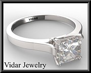 Roi Avidar - Princess Cut Diamond 14k...