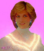Prince Harry Posters - Princess Diana Poster by Michael Rucker