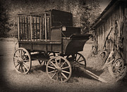 Wagon Wheels Prints - Prison Wagon Print by Garry Staranchuk