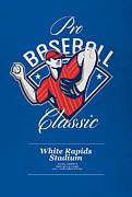 Pro Baseball Classic Tournament Retro Poster Print by Aloysius Patrimonio