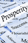 Prosperity Posters - Prosperity Concept Poster by Colin and Linda McKie