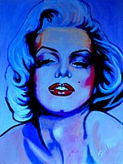 Pin Up Girl Paintings - Provacative Marilyn by Shirl Theis