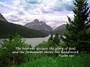 Verses Photos - Psalm 19 1  by Barbara Dalton