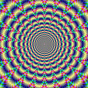 Optical Illusion Digital Art Posters - Psychedelic Pulse Poster by Colin  Forrest