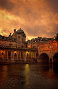 Pulteney Bridge Framed Prints - Pulteney Bridge Framed Print by Jill Battaglia