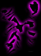 Purple Abstract Art Print by Mario  Perez