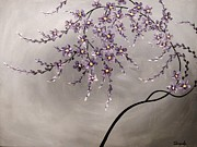 Cherry Blossoms Painting Prints - Purple Blossoms  Print by Tomoko Koyama