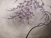 Purple Blossoms  Print by Tomoko Koyama