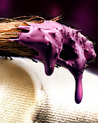 Antique Digital Art Originals - Purple Drip by Camille Lopez