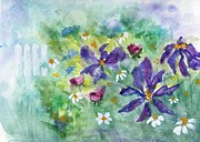 Sandi Stonebraker - Purple Floral With Fence