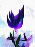 Flower Gardens Pastels Prints - Purple Tulip Print by Frank Bright
