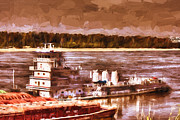 Barry Jones - Riverboat - Mississippi River - Push That Barge