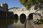 Pulteney Bridge Framed Prints - Puteney Bridge Framed Print by Premierlight Images