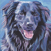 Dog Art Paintings - Pyrenean Shepherd  by Lee Ann Shepard