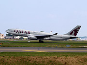 Klm Photos - Qatar Airways Cargo Airbus A330 by Paul Fearn