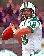 Quarterback Mixed Media - Quarterback 4 by Barry Spears