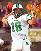 Quarterback Mixed Media - Quarterback 5 by Barry Spears