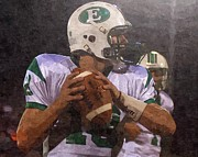 Football Mixed Media - Quarterback by Barry Spears
