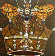 Marie Howell Gallery Painting Prints - Queen Bee Chronicles Print by Marie Howell Gallery