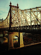 Nyc Digital Art Metal Prints - Queensboro Bridge Metal Print by Natasha Marco