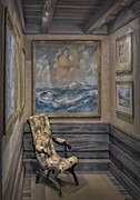 Lounge Chair Prints - Quiet Room Print by Susan Candelario