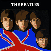 Mccartney Digital Art - Quintessentially British The Beatles by Dave Ell