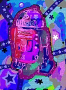 Collectable Painting Framed Prints - R2 D2 Pop Framed Print by David Rogers