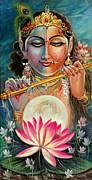 Mayur Sharma Metal Prints - Radha Krishna Metal Print by Mayur Sharma
