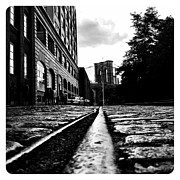 Nyc Digital Art Metal Prints - Rail - - - Bridge Metal Print by Natasha Marco
