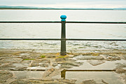 Puddle Iron Acrylic Prints - Railings Acrylic Print by Tom Gowanlock