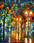 Leonid Afremov - Rain Before Christmas