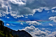 A Summer Evening Landscape Posters - Rainbow Clouds Above Ouray Colorado Poster by Janice Rae Pariza