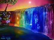 Rainbow Waterfall Print by Michael Rucker