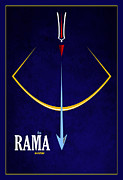 Third Eye Posters - Rama The Avatar Poster by Tim Gainey