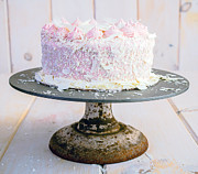 Dessert Photo Prints - Raspberry White Chocolate Cake Print by Edward Fielding